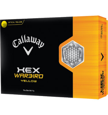 Callaway HEX Warbird Yellow Golf Balls - 12 pack (Personalized)