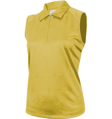 EP Pro Women's Starburst Jacquard Sleeveless Polo