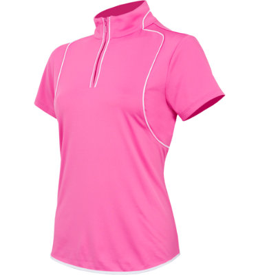 EP Pro Women's Zip Mock Short Sleeve Polo