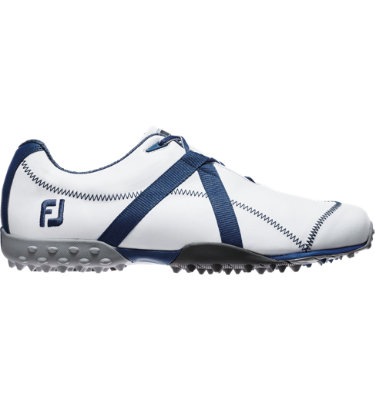 FootJoy Men's M:PROJECT Spikeless Leather Golf Shoe - White/Blue
