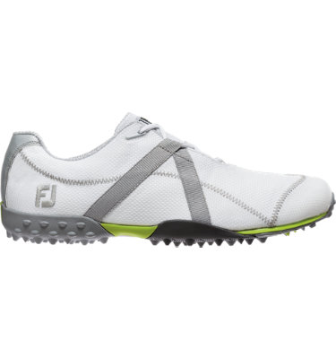 FootJoy Men's M:PROJECT Spikeless Mesh Golf Shoe - White/Silver (Disc Style 55221)