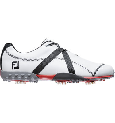 FootJoy Men's M:PROJECT Spiked Leather Golf Shoe - White/Black