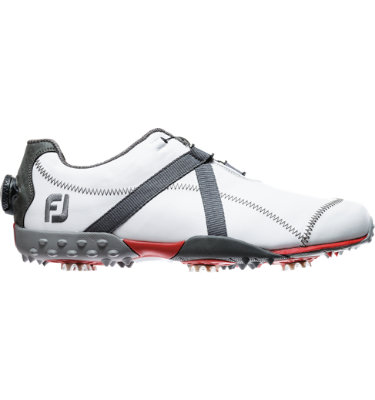 FootJoy Men's M:PROJECT Spiked Leather Golf Shoe with BOA - White/Charcoal
