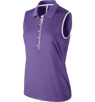 Nike Women's Dot Collar Sleeveless Polo