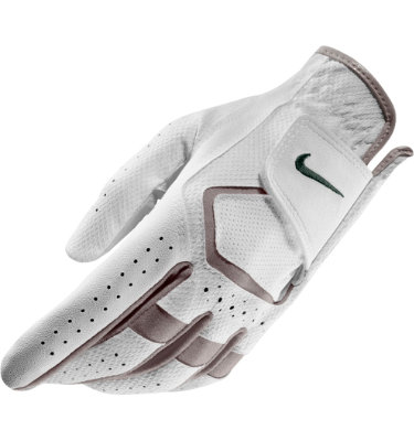 Nike Men's Dura Feel Golf Glove - White/Midnight Turquoise/Vapor Mauve