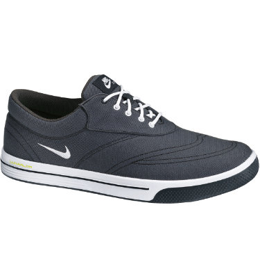 Nike Men's Lunar Swingtip Canvas Golf Shoe - Anthracite/White/Black/Volt