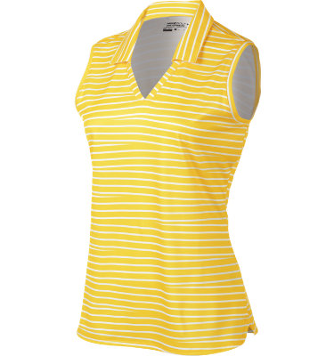 Nike Women's Novelty Stripe Sleeveless Polo