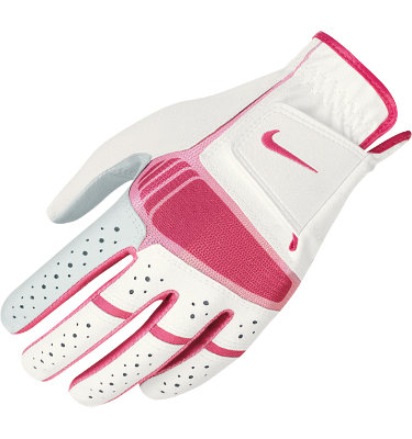 Nike Women's Tech Xtreme IV Golf Glove - White/Pink