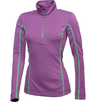 PUMA Women's Golf Monoline ¼-Zip Top Long Sleeve Top