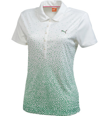 PUMA Women's Watercolor Dot Short Sleeve Polo