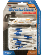 "Pride Golf Evolution Combo Pack 1½"" & 3¼"" Tees - 50 Pack"