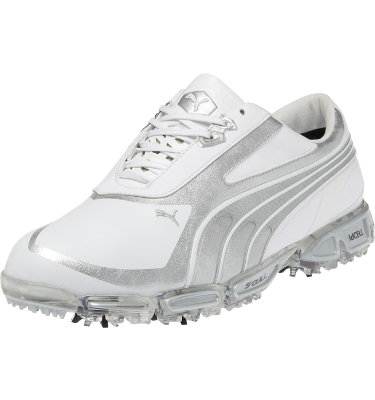 PUMA Men's AMP Cell Fusion SL Golf Shoe - White/Silver