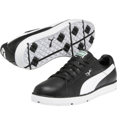 PUMA Men's Clyde Golf Shoe - Black/White
