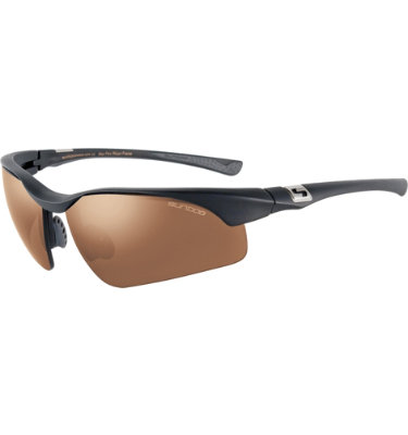 Sundog Men's Flight Mela-Lens Sunglasses - Black Frame/Brown Lens