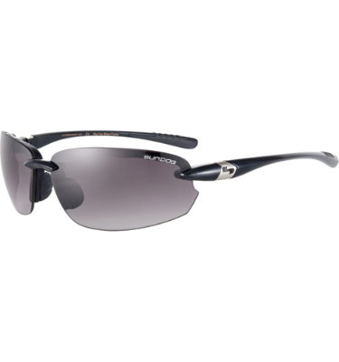Sundog Men's Laser Sunglasses - Shiny Black Frame/Smoke Lens