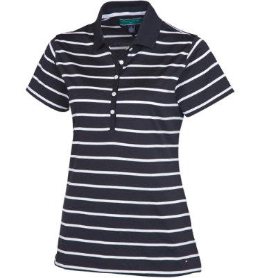 Tommy Hilfiger Women's Laurie Stripe Short Sleeve Polo