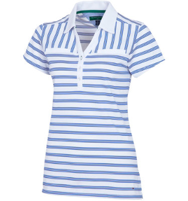 Tommy Hilfiger Women's Lee Stripe Short Sleeve Polo