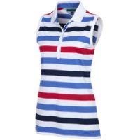 Tommy Hilfiger Women's Newton Stripe Sleeveless Polo