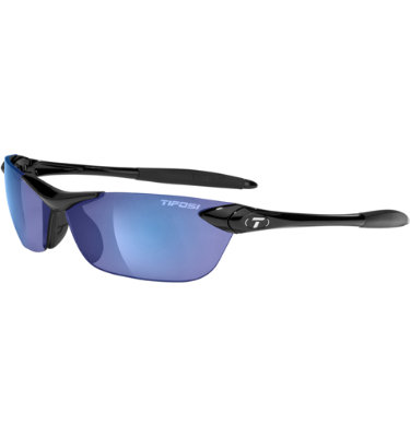 Tifosi Men's Seek Sunglasses - Gloss Black Frame/Smoke Blue Lens