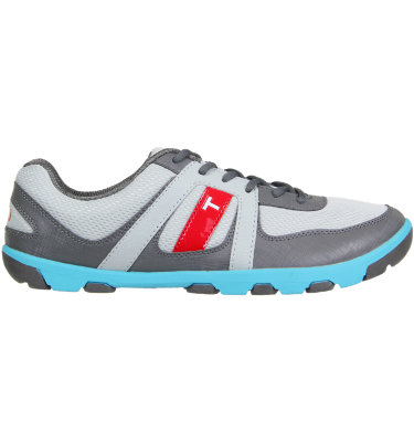TRUE linkswear Men's sensei Golf Shoe -Grey/Charcoal/Electric Blue