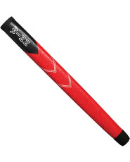 Winn Medallist Pistol Putter Midsize Grip - Black/Red