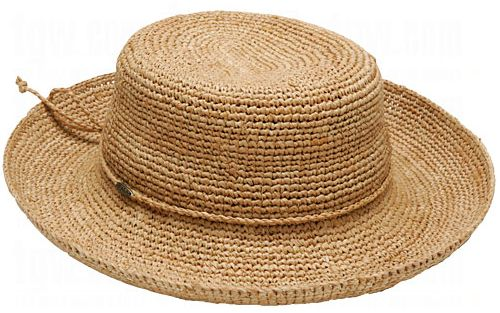 Dorfman Pacific Ladies Crocheted Raffia Hat