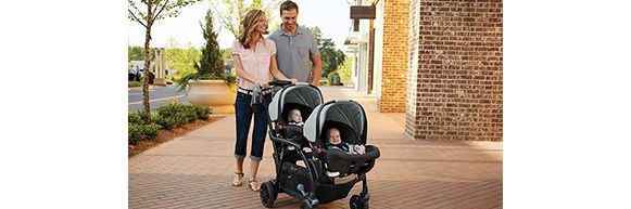 Mom with Graco® Modes™ Duo Stroller