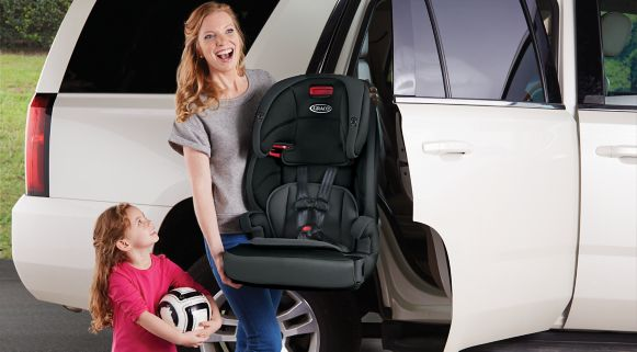 Mother With GracoR TranzitionsTM Seat After Soccer Practice