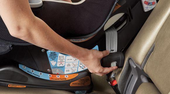 Parent Installing GracoR SequelTM 65 Car Seat