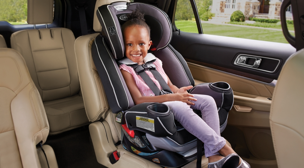 Child in Secured Graco® Car Seat