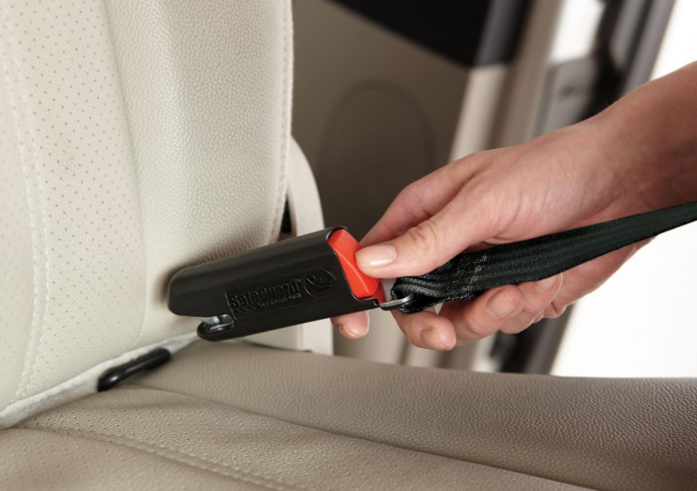 Parent Installing LATCH Car Seat Equipment