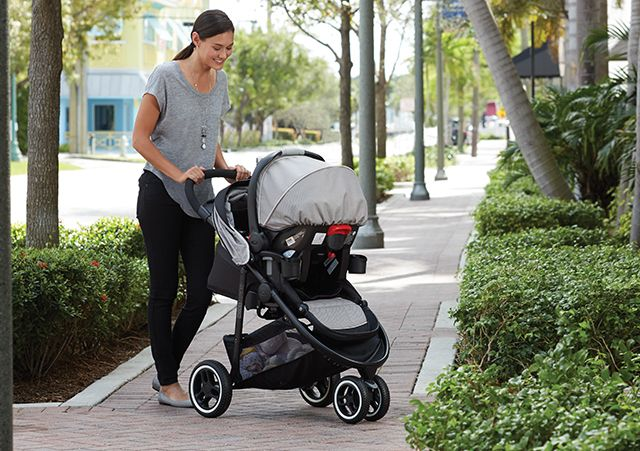 Mom with Graco® Stroller