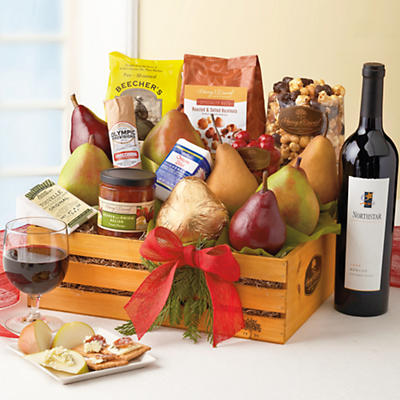 Gail Simmons Gift Basket with Merlot