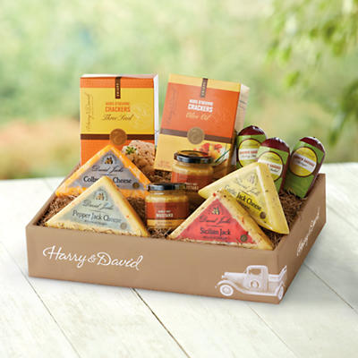 Sausage, Cheese and Crackers Gift Box Deluxe from Harry & David