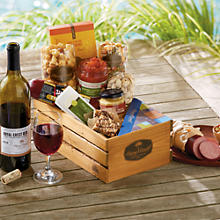 NEW Rogue River Snack Gift Basket with Wine