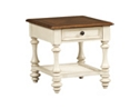 Southport End Table - Distressed White