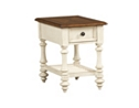 Southport Chairside Table - Distressed White