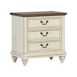 Southport Nightstand - Distressed White