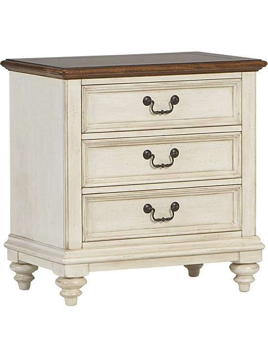 southport nightstand distressed white havertys