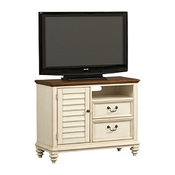 Southport Entertainment  Chest - Distressed White