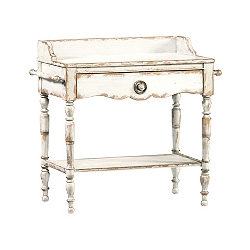 Willowwood Road Sugarberry Bedside Table - White
