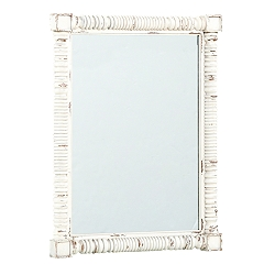 Willowwood Road SugarberryTurned Mirror - White
