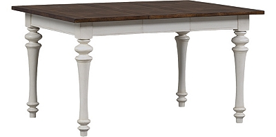 Dining Rooms, Southport Leg Table - Distressed White, Dining Rooms