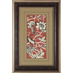 Crimson Framed Art I