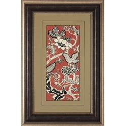 Crimson Framed Art II