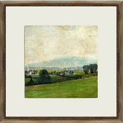 Crackled Scenic View Framed Art I