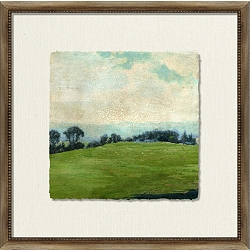 Crackled Scenic View Framed Art II