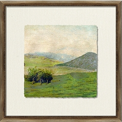 Crackled Scenic View Framed Art III