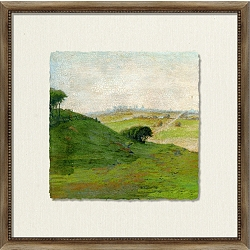 Crackled Scenic View Framed Art IV