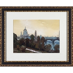 City Watercolor Framed Art I